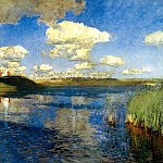 900 Classic russian paintings - Isaak Levitan - Lake. Rus