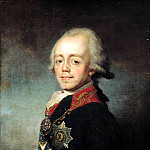 900 Classic russian paintings - SHCHUKINA Stepan - Portrait of Emperor Paul I