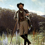 900 Classic russian paintings - Kramskoy Ivan - Portrait of Ivan Ivanovich Shishkin