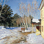 900 Classic russian paintings - Isaak Levitan - March
