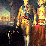 900 Classic russian paintings - Borovikovsky Vladimir - Portrait of Prince AB Kurakin (1801-1802) GTG