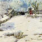 900 Classic russian paintings - Goryushkin-Sorokopudov Ivan - the sun - summer, winter - the cold