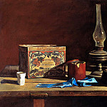 ANOKHIN Nick – Still life with blue ribbon, 900 Classic russian paintings