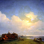 900 Classic russian paintings - Ivan Aivazovsky - Chumaky on vacation