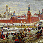900 Classic russian paintings - Huon Constantine - Old Moscow