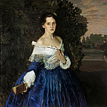 Somov Konstantin - Lady in Blue GTG, 900 Classic russian paintings