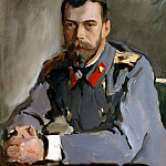 900 Classic russian paintings - Valentin Serov - Portrait of Nicholas II