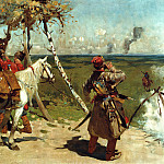 900 Classic russian paintings - Ivan Sergei - The border patrol Moscow
