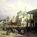 900 Classic russian paintings - VERESHCHAGIN Peter - The market in Nizhny Novgorod