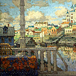 900 Classic russian paintings - Gorbatov Constantine - Pskov. 1915