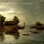 900 Classic russian paintings - Lagorio Lev - Farm Island