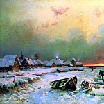 Klever Julius - Village on the island Nargen, 900 Classic russian paintings