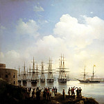 Ivan Aivazovsky - Russian squadron at the Sevastopol harbor, 900 Classic russian paintings