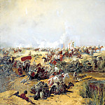900 Classic russian paintings - Karazin Nick - Crossing Turkestan detachment across the Amu Darya in 1873