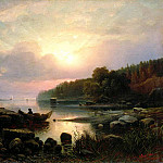 900 Classic russian paintings - Ginet Alexander - Finnish landscape