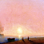 Ivan Aivazovsky - Farewell, 900 Classic russian paintings
