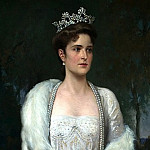 900 Classic russian paintings - MAKOVSKY Alexander - Portrait of Empress Alexandra Feodorovna