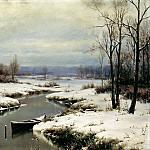 Welz Ivan - Beginning of winter, 900 Classic russian paintings