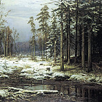 Shishkin Ivan – First Snow, 900 Classic russian paintings