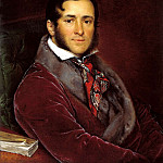 900 Classic russian paintings - Tropinin Vasily - Portrait Yegorov Mosolov. 1836