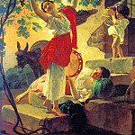 900 Classic russian paintings - BRYULLOV Carl - Girl, gather the grapes in the vicinity of Naples