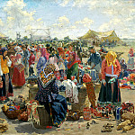 KULIKOV Ivan – Fair, 900 Classic russian paintings