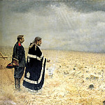 900 Classic russian paintings - Vereshchagin Vasily (Vasilyevich) - Defeated. Requiem