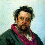 Ilya Repin - Portrait of Mussorgsky, 900 Classic russian paintings
