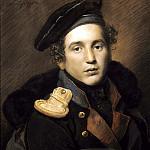 900 Classic russian paintings - Kiprensky Orestes - Portrait of Peters reindeer. 1813