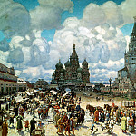 900 Classic russian paintings - Vasnetsov Apollinary - Red Square