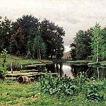 900 Classic russian paintings - VOLKOV Yefim - Landscape with pond