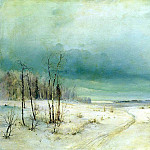 900 Classic russian paintings - Alexei Savrasov - Winter. 1