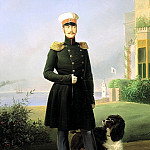 Boatman Egor - Portrait of Emperor Nicholas I. 1849, 900 Classic russian paintings
