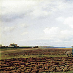 900 Classic russian paintings - Klodt Mikhail (K.) - On the furrows. 1872