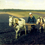 Kazimir Malevich - Ilya Repin - Portrait (LN Tolstoy on arable land)
