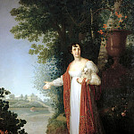 900 Classic russian paintings - Borovikovsky Vladimir - Portrait of Darya Alekseevna Derzhavina