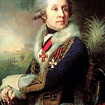 Borovikovsky Vladimir - Portrait of Major-General Fedor Artemyevitch Borowski, 900 Classic russian paintings