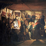 Maximov Vasiliy - Sorcerer comes to a peasant wedding, 900 Classic russian paintings