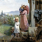 900 Classic russian paintings - KOSHELEV Nick - Morning in the village