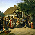 Trutovsky Constantin - Round Dance in the Kursk province, 900 Classic russian paintings