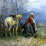 Vasilkovsky Sergey - Zaporozhets to post, 900 Classic russian paintings
