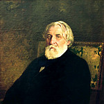 900 Classic russian paintings - Ilya Repin - Portrait of Ivan Turgenev