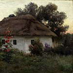 900 Classic russian paintings - VOLKOV Yefim - Ukrainian landscape with cottage