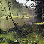900 Classic russian paintings - DUBOVSKAYA Nick - River Forest