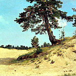 Shishkin Ivan – pine on sand, 900 Classic russian paintings
