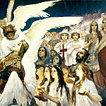 900 Classic russian paintings - Viktor Vasnetsov - Joy of the Lord, the righteous (right)