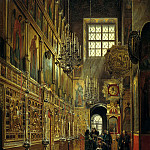 900 Classic russian paintings - SHUHVOSTOV Stepan - Internal view of Alexis Church Chudova monastery in the Moscow Kremlin