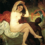 BRYULLOV Karl – Bathsheba, 900 Classic russian paintings