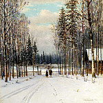 900 Classic russian paintings - Kondratenko Gabriel - Winter. At the entrance