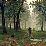 900 Classic russian paintings - Shishkin Ivan - Rain in the oak forest